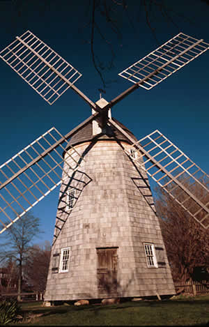 An old wood wind mill